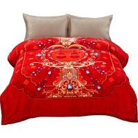 君别新婚毛毯婚庆毛毯大红色结婚绒毯陪嫁加厚保暖冬季毯被子