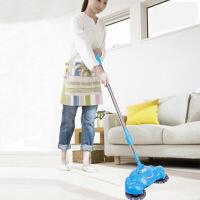 红兔子 时尚家用方便实用伸缩型不锈钢拉杆手推式扫地机不插电吸尘器懒人拖地扫把簸箕套装笤帚