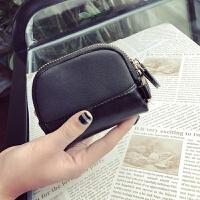 新款韩版小钱包女短款学生拉链零钱包袋迷你纯色小方包韩国硬币包钱夹