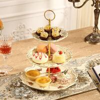 三层果盘多层水果盘客厅蛋糕架子点心盘干果盘甜品台糖果盘零食盘