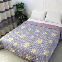 双层夹棉法兰绒毛毯加厚盖毯冬季防滑保暖珊瑚绒床单双人空调毯