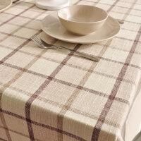 经典加厚欧式格子桌布布艺餐厅餐桌布长方形现代简约台布茶几盖巾
