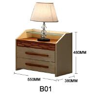 御品工匠 北欧现代 全实木床头柜 卧室家具 储物柜(不单售)