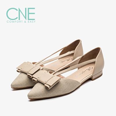 CNE夏季新款凉鞋女仙女风晚晚鞋尖头蝴蝶结女凉鞋AM617 仙女风尖头蝴蝶结女凉鞋