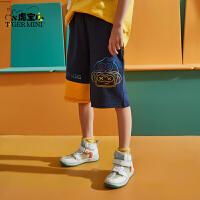 【3件2折:57.8元】小虎宝儿男童五分裤儿童短裤子纯棉薄款夏季2021新款中大童