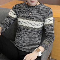 秋冬季男士毛衣青年薄款针织衫潮流圆领打底男装韩版修身毛线衣服
