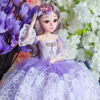 黛蓝芭比超大洋娃娃大号公主女孩儿童玩具仿真精致单个套装
