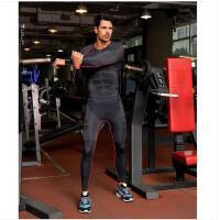 紧身吸汗速干衣运动健身长袖薄款弹力贴身 轻压型男士塑身衣