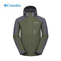 Columbia哥伦比亚户外男防水防风抓绒保暖三合一冲锋衣外套PM7928