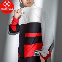 幸运叶子 NIKE耐克夹克男装春季新款运动服拼接透气跑步外套CN8509-011