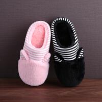 儿童棉拖鞋韩版冬天保暖室内防滑厚底大小童可爱卡通居家毛绒宝宝拖鞋