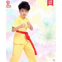 幼儿园小学生武术表演服装 儿童武术练功服 男女童太极服长袖短袖
