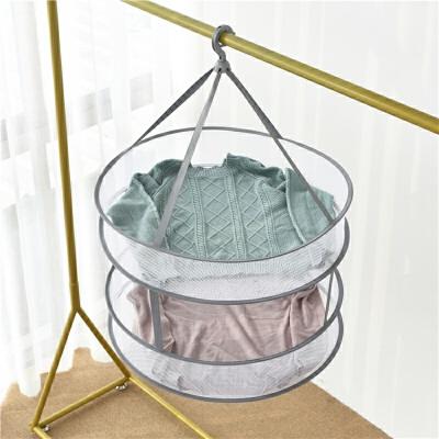 20190815035826611晒针织羊绒衫的晾衣架平铺防变形挂毛衣袜子网兜家用可折叠防风嗮衣篮
