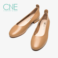 CNE2019春夏新款船鞋温柔鞋日系圆头平底奶奶鞋女单鞋AM06314