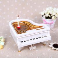 钢琴造型音乐盒工厂直销创意朋友情侣生日礼物批发旋转女孩八音盒