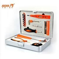 德国圣德保罗 SD-024 豪华家用维修五金工具套装 五金工具箱 27件