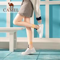 骆驼女鞋2019春季新款网红单鞋韩版百搭休闲板鞋学生真皮小白鞋女