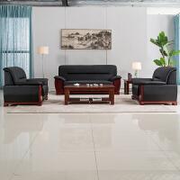 办公家具沙发商务经理室茶几组合套装会客区三人位接待室3人会议