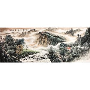 石庆《山水30》著名画家