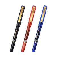 金万年 直液式中性笔 金属夹签字笔 12支装