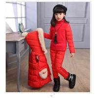 3童装6女童装套装9中大童棉衣服8季运动三件套10加厚12岁