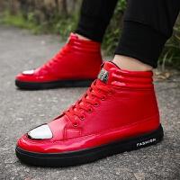 DAZED CONFUSED  冬季季高帮鞋韩版男鞋帆布鞋男休闲鞋子潮流青少年板鞋加绒款潮