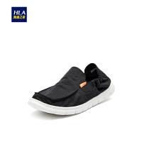 HLA海澜之家舒适休闲鞋2019春季新品套脚织物鞋子男HSXDD1R046A