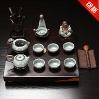 林仕屋茶具茶盘整块黑檀木茶盘 整套陶瓷茶具套装功夫茶具CJT1716