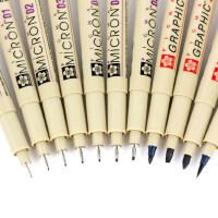 日本樱花针管笔套装防水勾线笔套装漫画描边描线动漫设计黑色勾边笔手绘漫画专用笔绘图笔简笔画笔高光笔