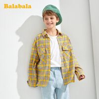 【2.26超品 5折价:79.95】巴拉巴拉童装男童衬衫儿童长袖衬衣2020新款中大童经典格纹上衣潮