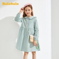 【3件4折:95.6】巴拉巴拉女童公主裙�和��B衣裙春�b2020新款童�b大童格�yA字裙女