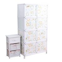 简易组装衣柜收纳柜客厅储物柜厨房餐边柜橱柜餐柜阳台铝合金柜子 双门