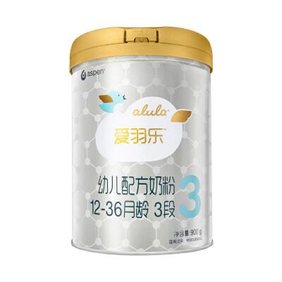 [当当自营]alula爱羽乐3段幼儿配方奶粉( 12-36个月)900g新客注册爱羽乐妈妈俱乐部,买即赠900g奶粉