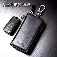 真皮钥匙包大容量多功能男士腰挂拉链钥匙包牛皮女卡包汽车锁匙扣
