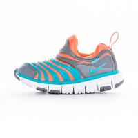 【4折价:159.6元】耐克(Nike)童鞋 毛毛虫儿童鞋 舒适运动休闲鞋343938-808 浅蓝/橙色/灰色