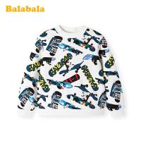 巴拉巴拉男童T恤长袖秋冬2019新款童装小童宝宝打底衫加绒上衣潮