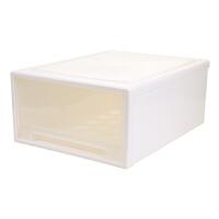 简约透明抽屉式收纳箱衣物整理箱衣服收纳柜内衣塑料储物箱衣柜收纳盒收纳用品 49L 48*45*22.5CM 1个装