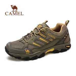 camel骆驼 夏季耐磨运动鞋休闲鞋男跑步鞋 透气网面鞋