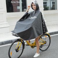自行车雨衣女男士骑行单人学生山地单车透明雨披时尚个性韩版 XXL