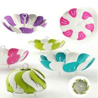 创意雀尼尔伸缩果盘塑料果篮 可提式折叠水果盘果篮