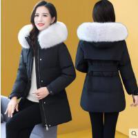 羽绒服女短款新款修身时尚品牌气质外套小个子矮毛领白鸭绒羽绒服