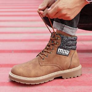 男鞋秋冬季马丁靴男短靴复古高帮靴子男士沙漠靴英伦皮靴工装靴男靴