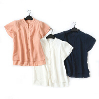 A133特日单品牌新夏款客供面料优雅甜美气质雪纺衫