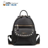 Miffy米菲 2016新款铆钉手提背包 时尚潮流小双肩包女士女包包潮
