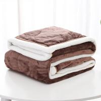 毛毯加厚珊瑚绒单人宿舍学生冬季双层午睡小毯子法兰绒床单沙发毯