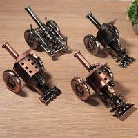 复古钢炮金属模型军事古董小摆件柜台装饰品创意古老工艺礼品