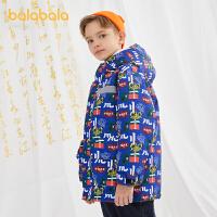 【3件4折价:340】巴拉巴拉童装儿童羽绒服男童秋冬中大童外套