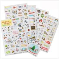 韩国文具 可爱装饰贴纸 卡通pvc透明贴纸 日记装饰贴 1包装