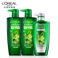 [当当自营]欧莱雅 茶树植萃去屑净油美发洗发水护发素套装1.9L去屑止痒无硅油