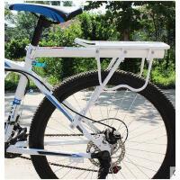 可载人自行车尾架单车后尾架山地车铝合金货架 白色快拆载货架